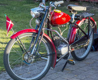 Classic old motorcycle in Denmark