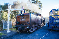 Heritage Steam Train in Maldon Australia