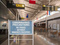 Coronavirus restrictions on travel without immunity passport