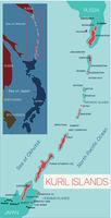 Kuril Islands detailed editable map