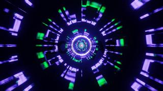 Illuminated Game Port Entry Port 4k uhd 3d illustration background