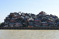 stockpile of car wrecks