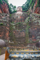 The Giant Leshan Buddha and memorial candles