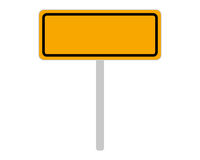 Ortsschild aus Slowenien auf weiss - Road sign of Slovenia on white