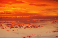 cloudy red sunset sky