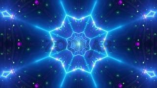 Cool neon wireframe star 3d illustration background wallpaper artwork