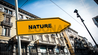 Street Sign to Nature