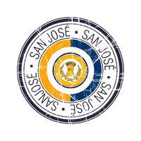 City of San Jose, California vector stamp