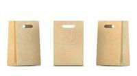 Three shopping paper bags 3D