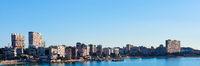 Horizontal photography skyline of Albufereta. Costa Blanca, Alicante. Spain