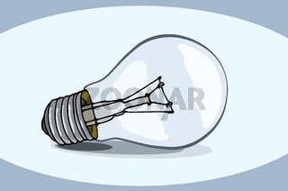 typical classic light bulb
