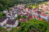 Altmannstein village in the Altmuehltal valley
