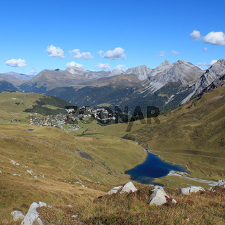 Scenic landscape in Arosa