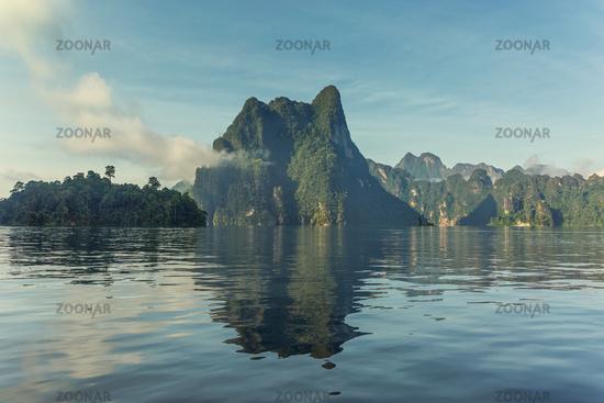 Cheow Lan lake landscape in Thailand