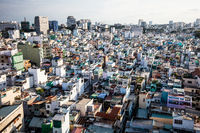 Aerial view over Ho Chi Minh City