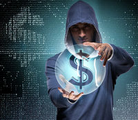Hacker hacking banking financial system