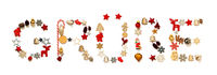 Colorful Christmas Decoration Letter Building Gruesse Means Greetings
