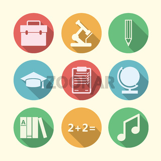 Vector icons for education