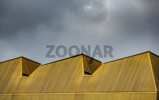 Abstract Yellow Urban Architecture