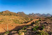 Ethiopian landscape, Ethiopia, Africa wilderness