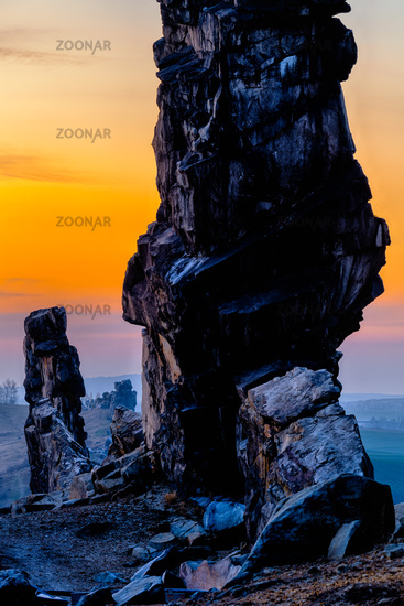rock formation Teufelsmauer, Harz Mountains, Germany