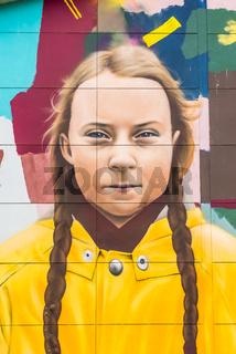 The Swedish  Environmental activist Greta Thunberg
