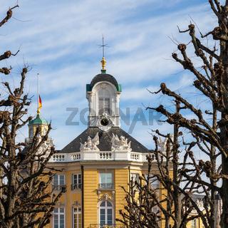 Details of the Top Area of a Side-Buildings of Castle Karlsruhe. In Karlsruhe, Baden-Württemberg, Germany