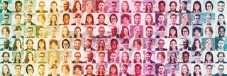 Panorama Portrait von Geschäftsleuten als Header