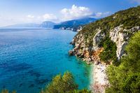 Cala Fuili beach in Orosei Golf, Sardinia, Italy