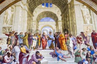 Die Schule von Athen, Stanzen des Raffael