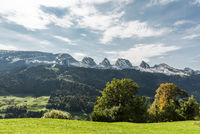 Landscape in Toggenburg with view of the Churfirsten, Canton St. Gallen, Switzerland