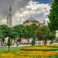 The Sultan Ahmad Maydan in Istanbul, Turkey