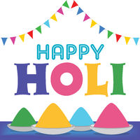 Colorful greeting card for Holi festival