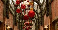 Christmas lights at the Hamburger Hof in downtown Hamburg