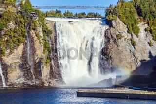 Powerful waterfall Montmorency