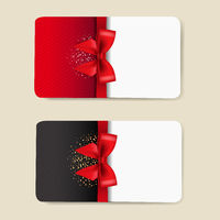 Two Gift Cards Set Isolated
