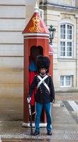 Guard in Amalienborg Palace, Copenhagen.