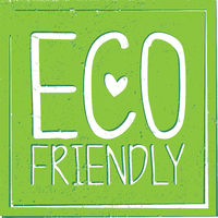 square green grungy eco friendly sticker or label with heart shape