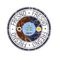 City of Fresno, California vector stamp