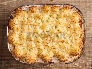 rustic traditional british shepard pie