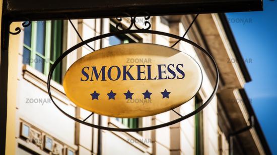 Street Sign to Smokeless