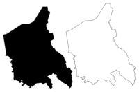 Mazsalaca Municipality (Republic of Latvia, Administrative divisions of Latvia, Municipalities and their territorial units) map vector illustration, scribble sketch Mazsalaca map
