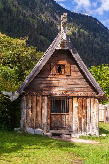 Wooden hut from the film Wickie und die strong men.