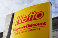 Netto logo sign of german discount supermarket chain