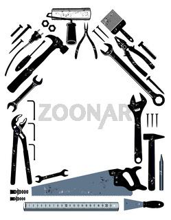 Werkzeug in Hausform.eps