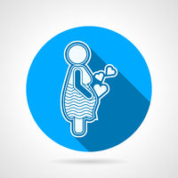 Maternity round vector icon