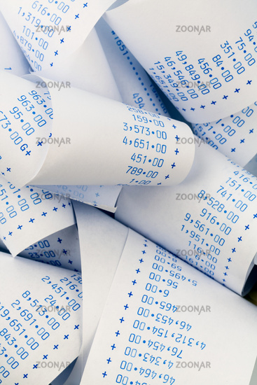 Calculation strip of a pocket calculator