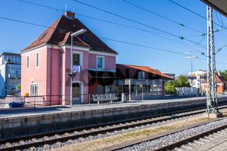 Municipal Germering, District Fürstenfeldbruck, Upper Bavaria, Germany: Main Station, S-Bahnhof of Munich S-Train-Line S8