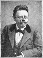 Portrait of Max Halbe - a German dramatist and main exponent of Naturalism.