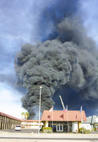 hotel serious conflagration produce heavy smoke